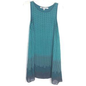 Max studio geometric print shift dress blue